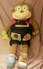 Alex toys little hands learn to dress monkey plush doll 20""
