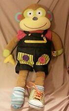 "Alex toys little hands learn to dress monkey plush doll 20"""