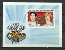 38105) Congo Rep. 1982 MNH Birth Of William Of Wales S/S con Resello