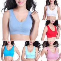 Women Ladies Seamless Sports Bra Underwear Fitness Yoga Stretch Bra Plus Size