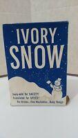 Vintage Rare 1950s IVORY SNOW DETERGENT  W/SNOWMAN! Large Size, Some Contents!!