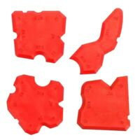 4Pcs/Set Red Caulking Tool Kit Joint Sealant Silicone Grout Remover Scraper Floo