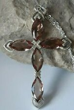 AAA QUALITY STERLING 925 SILVER HANDMADE JEWELRY-TURKISH DIASPORE CROSS PENDANT