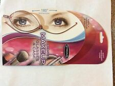 2 prs - GOLD Makeup Magnifying Eyeglasses Flip Make-up Eye Glasses w/ casesNEW