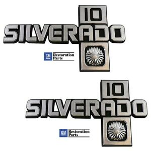 1981 1982 1983 1984 1985 1986 1987 Chevy Truck Fender Emblem Silverado 10 Pair