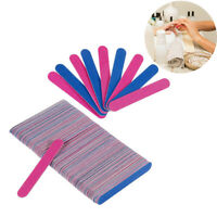 100Pcs Home Beauty Salon Double-Sided Disposable Nail File Emery Shaping Board