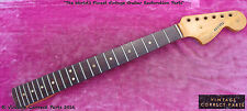 Vintage 1966 Fender Mustang Neck 100% original finish, frets PROJECT 1965 1964