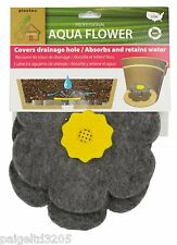 Plastec Aqua Flower Pot Insert Saves Water Slows Drainage 2 PK Made in USA
