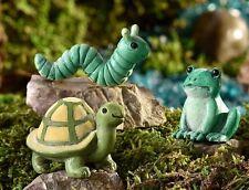 Miniature Fairy Garden Caterpillar Tortoise Frog Glow-in-Dark 3 Asst GI 700360