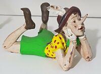 Pinocchio Vintage anni 80/90 Statuina in Resina dipinta a mano Raro  Vedi Foto