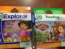 2 LeapFrog LeapPad Dora's Amazing Show & Sofia The First Works with all LeapPad