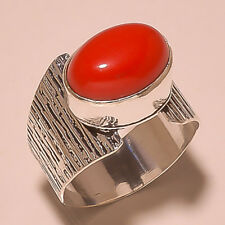 Coral Gemstone 925 Sterling Silver Handmade Jewelry All Size sx036