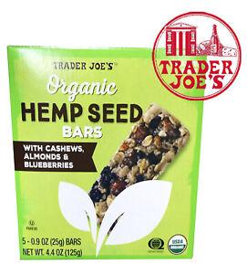 🔥 Trader Joe's Organic Hemp Seed Bars 🔥 5 bars