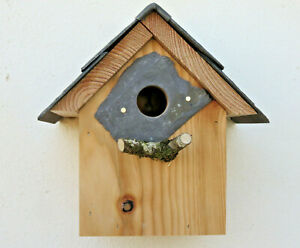 Bird house nest box sparrows Great tits Welsh slate