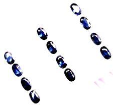 Natural Loose Gem Oval Blue Sapphire Lot/ 39 Pcs 11.33 Carats Tol,  5x3x2.3 MM