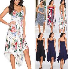 Strandkleid sommerkleider strandkleider sommerkleid knielang Tunika Kleid 36-42