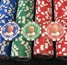 🤠Personalised Poker Chips Set Xmas Gift 500 chips with case Fathers Day Gift