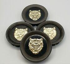 JAGUAR Black & Gold JAG LOGO / EMBLEM Rim Cover Center Caps ~ Complete Set of 4