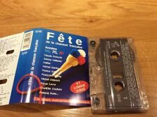 """""""FETE DE LA CHANSON FRANÇAISE  """"K7 audio..DALIDA.FRANCOIS.HALLYDAY.SARDOU.LAMA.."""