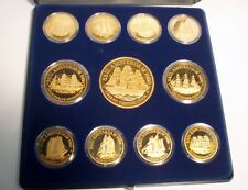 SAIL AMSTERDAM 1980 Complete set of 11 Ships, UNC Proof Medals in a Box + COA B3