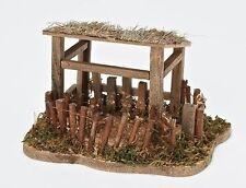 Fontanini Shepherds Sheep Shelter Italian Nativity Village Figurine New-Free S/H