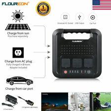220Wh 600W Energy Storage Portable Power Station Solar Generator Inverter 4 USB