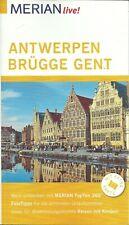 Reiseführer Stadtführer Antwerpen Brügge Gent Flandern+Faltkarte Ungelesen 2017