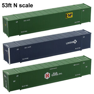 53ft N Scale Container 1:160 Shipping Container 53foot Freight Car Model Train