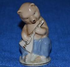 Circus bear with balalaika Antique soviet russian porcelain figurine   i