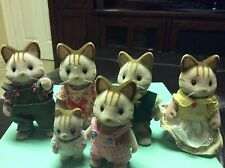 CALICO CRITTERS MACAVITY CAT FAMILY JP SYLVANIAN FAMILIEST RARE HTF