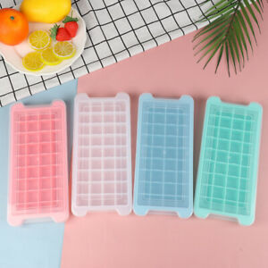 24 /36Grids Silicone Ice Cube Tray Mold Fresh Fruit Large Ice Tray Moulds HL