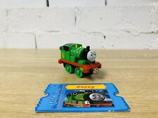Percy & Collectors Card - Thomas Take N Play/Take Along Die Cast Trains