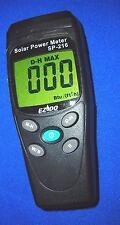 Solar Power Meter*Radiation Meas.2000*Select w/m2 & BTU(ft2xh),Data.Light sensor