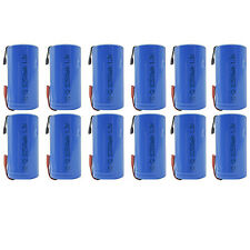 12PCS Sub C 2500mAh 1.2V Ni-CD Rechargeable Battery Tabs Power Tool RC Pack Blue