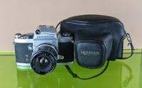 Vintage Miranda FV 35mm Analogue SLR Film Camera 1:2.8 f = 3.5 cm Lens VG+ WORKS