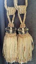Ornate decadent pair of curtain tiebacks / tassels