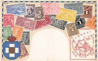 Greece Stamps on Early Postcard, Unused, Published by Ottmar Zieher