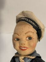 Vintage Norah Wellings Sailor Doll T.S.S. TRANSYLVANIA Made In England