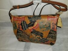 Patricia Nash Positano Saddle Vintage Patch Messenger Leather Bag NWT - A2/A3