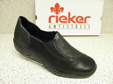 rieker ®  SALE Top Preis schwarz Leder + gratis Premium - Socken L6064-00 (R273)