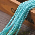 New 200pcs 4mm Bicone Faceted Lustrous Loose Spacer Glass Beads Light Lake Blue