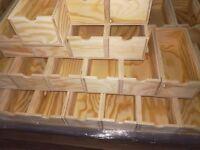 NEU Holzkisten Holzladen Schubladen Lagerkisten 25x12x9cm. Laden Holzboxen SUPER