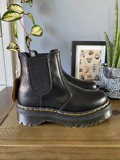 Dr Martens 2976 Quad Black leather platform Chelsea boots size 7 41 Chunky BNIB