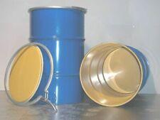 Bidon métal 60 litres tonneau poignée fut container coffre sécurité étanche TBE