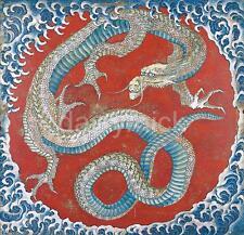 MATSURI yatai DRAGO Hokusai 6x6 pollici Stampa Giappone