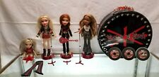 BRATZ PRETTY N PUNK LONDON TOUR FASHION WARDROBE CASE & AIRPLANE & DOLLS & ACCES