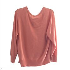 Lafayette 148 New York Womens Cashmere V-Neck Sweater Blue Size 2XL
