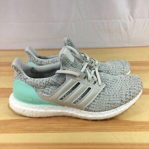 Adidas UltraBoost Running Shoe Carbon Clear/Mint DB3212 Sz 7.5