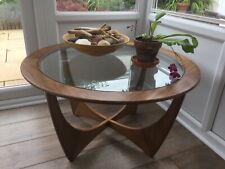 More details for g plan astro round teak glass top coffee table mid 60's.