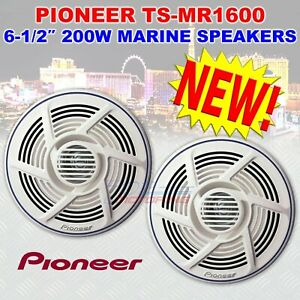 "PIONEER TS-MR1600 MARINE 6.5"" DUAL CONE BOAT NAUTICA AUDIO SPEAKERS WHITE 200 W"